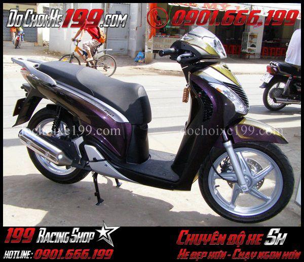 Sơn đổi màu tím chàm cho xe Sh 2011 cực đẹp tại Shop 199 TpHCM