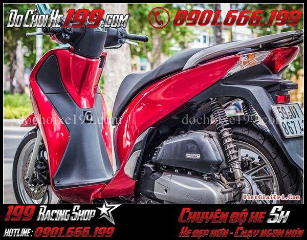 Sơn lại màu đỏ tươi cho xe Sh Việt 150 cực đẹp tại TPHCM