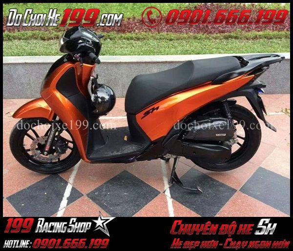 Sơn đổi màu cam cho xe Sh VN 150i cực chất