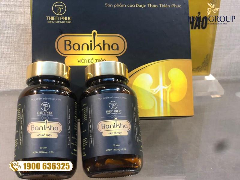 Hỗ trợ chức năng thận hiệu quả bằng viên uống bổ thận Banikha
